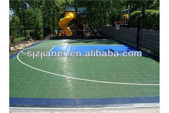 Easy remove PP interlocking floor for basketball floor