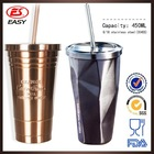 16oz double wall stainless steel starbucks cafe coffee tumbler with straw