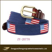New arrival fashion needlepoint belt,golf belt,custom belt
