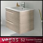 Contemporary style wood grain bathroom furniture