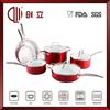 10pcs aluminium korea ceramic cookware