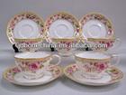 wholesale royal Japanese Korea design fine bone china tea cup & saucer