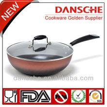 chinese kitchenware aluminum nonstick wok pan