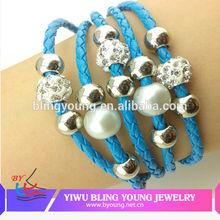 Custom design magnetic clasp charm bracelets