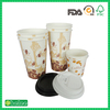 Eco Friendly paper coffee cup with lid and sleeve