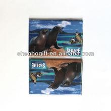 Custom souvenir tin fridge magnet / metal magnet / paper cover magnets