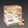 Clara e simples acrílico armário de exposição pão
