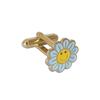 Hot sale beautiful flower transparent color pins/Flower shape pin badge