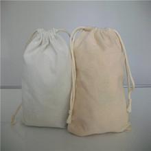 waxed canvas cotton tote bags/eco cotton canvas drawstring bags/blank black bag cotton