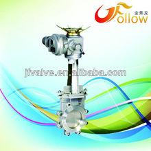 ansi 150lb bevel gear wafer electric knife gate valve
