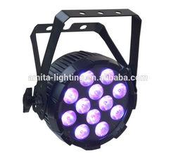 LED PAR LIGHT RGBWA UV 6in1 12X12W FLAT PAR