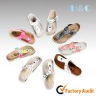 HC-303 fully adjustable strap PU upper soft cork footbed flip flop sandal for girls