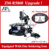 Hot sale ! Zhuomao Manual hot air BGA Rework station ZM-R5860 laptop motherboard repair machine,also for ps3 gpu rework