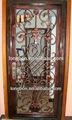 la parte superior 2014 venta de diseño de la puerta de madera de hierro