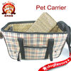 Plaid Checkered & Leopard Print Lining Pet Carrier-Dog Tote-Dog Bag-Pet Bag