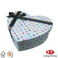 newly cute gift Cardboard Box Printing in heart shape
