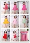 2015 fashion summer cotton short sleeve girls dress,kids girls dress,pricess dresses.