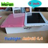 New cheap tablet with flashlight 9 inch/ 2014 Hot Sale Dual Core Android 4.4 Tablet 9 Inch