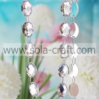 .13*18MM Room Accessories Faceted Oval Garland Diamond Strand Acrylic Crystal Bead Wedding DIY Decoration U Pick Quantity10m