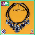 2014 new design double layer personalized handmade crystal necklace
