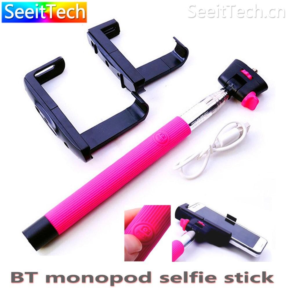 customization monopod bluetooth selfie stick with bluetooth shutter button. Black Bedroom Furniture Sets. Home Design Ideas