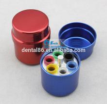 Dental Round Aluminum Endo Organizer Container 6 Gutta Percha Box
