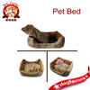 Trade Assurance High Quality Small Pet Dog Cat Bed Leopard Square Teddy Bed house Warm Pet Nest