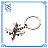 Hot sale zinc alloy airplane keychain for souvenir