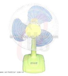 Home Using fan/16 Inch Warm Color Table Fan,Plastic Blade