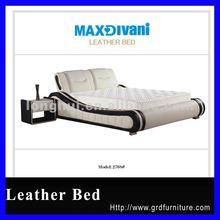 Modern queen storage leather bed furniture