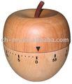 Madera de apple temporizador, temporizador de madera, temporizador de apple