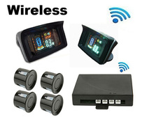 Car Wireless VFD&HUD Display Parking Sensor 4 Sensors Wifi Wireless Car Reversing Aid System