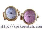 Metal Material Fashion Women Finger Watch Ring Clock