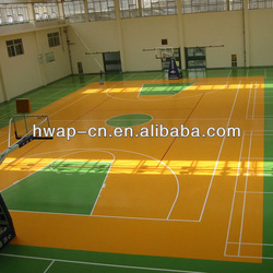 Excellent Quality Wood Pattern PVC Flooring, PVC Sports Flooring for Indoor Basketball Court Used