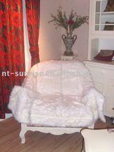 white soft throw 100% polyester coral fleece blanket