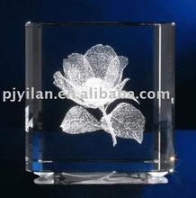 fashion rose 3d crystal laser engraving gifts