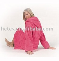 Terry cotton plain sleeping wear for ladies