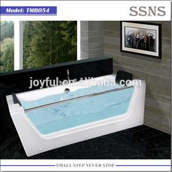 One Person Whirlpool Bathtub with glass skirt TMB054