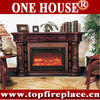 AD618 Decor Flame Large Wood Mantel Electric Fireplace For Deco&Heat Room