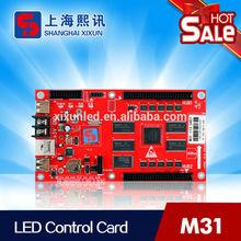 led color card for full color led display, USB port for quick update program