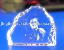 crystal engraving portrait