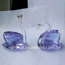 lovely decorative crystal purple swan