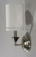 2014 Modern Silver & White Fabric Lamp Shade Wall Light E27 Capsule Bulb