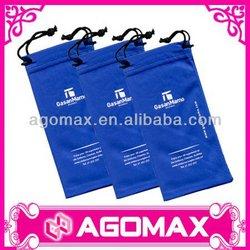 Hot selling magic microfiber sunglasses drawstring fabric pouch bag
