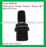 000539 toyota new hiace parts Indicator Globe Socket Hiace 2005 2006 2007 2008 indicator globe socket for hiace