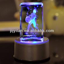 nice crystal 3d laser picture cube,3d laser etched glass cube crystal 3d laser cube