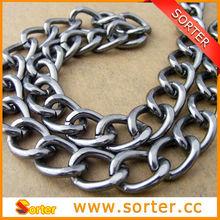 Gunmetal Twist Aluminum Link Chain for Bags
