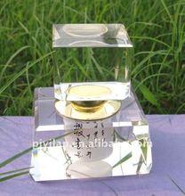 nice clear decorative egyptian glass perfume bottle
