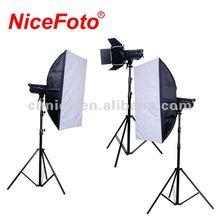 NiceFoto Photographic Equipment Studio lighting studio flash kit 3*300ws