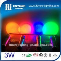 Color changing mini 3w Edison led flashlight torch light